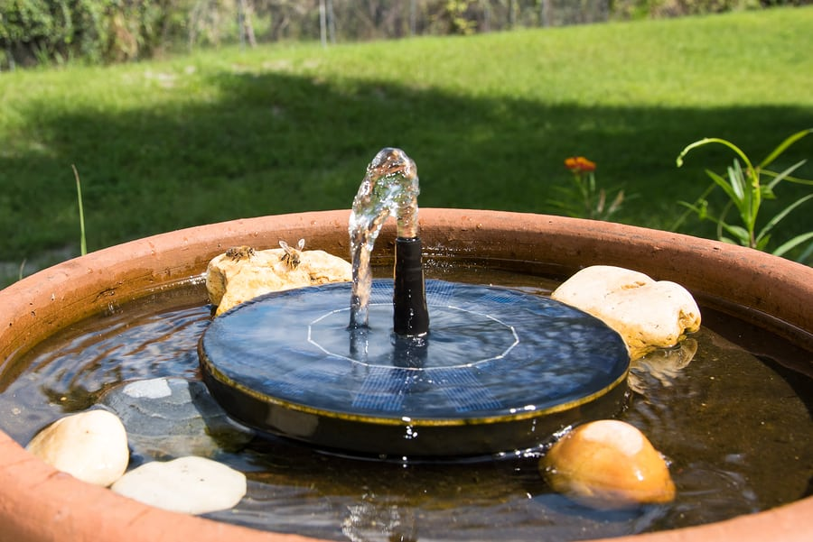 best solar fountains
