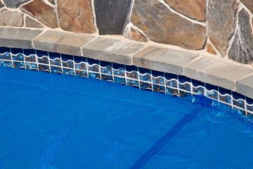 solar pool cover blue