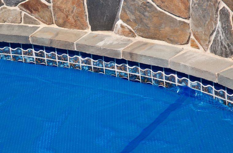 solar pool cover blue