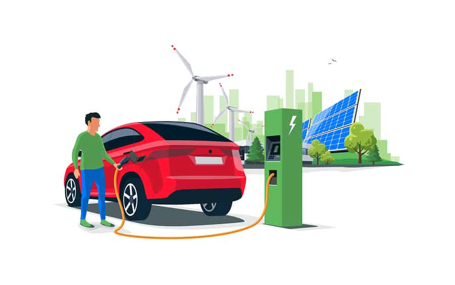 solar electric car charging