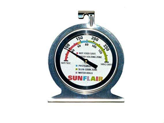 sunflair solar oven temperature