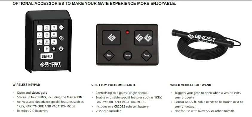 ghost controls accessories