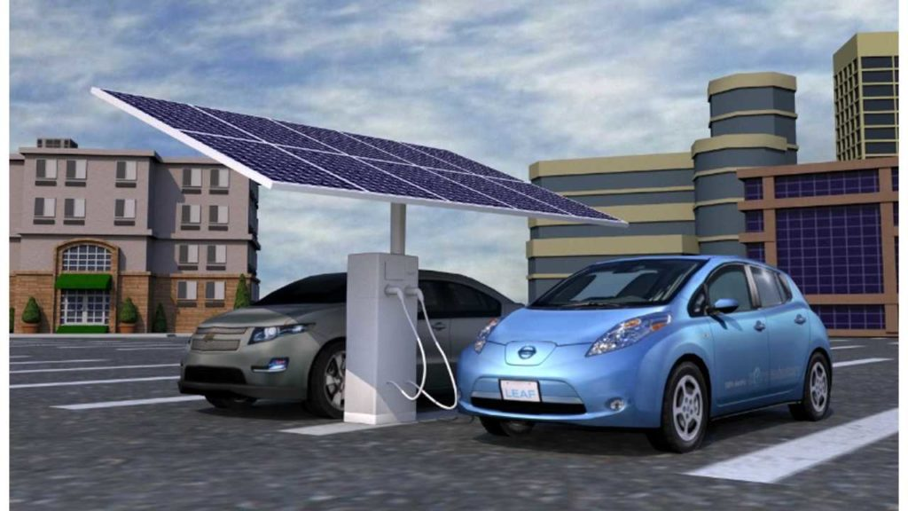 EV Solar-Powered Charging Station