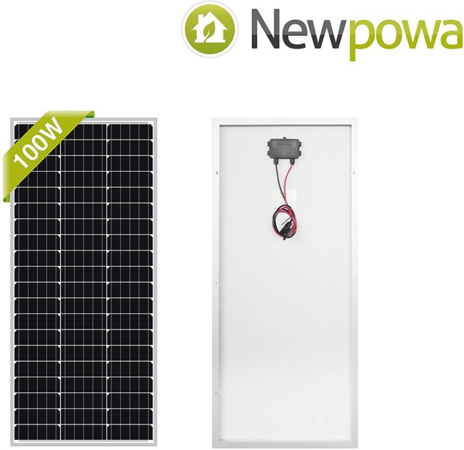 Newpowa 100 Watt Monocrystalline 100W 12V Solar Panel