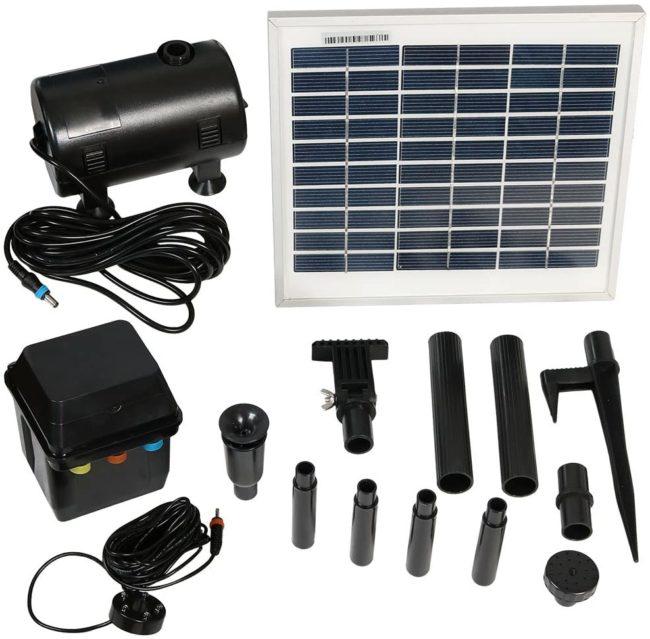 Sunnydaze Solar Water Pump and Panel